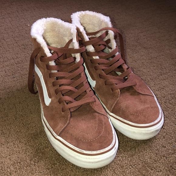 Vans Shoes | Fur Lined Vans Sk8 Hi